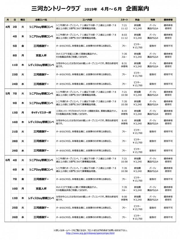 三河企画コンペ一覧19.4~6